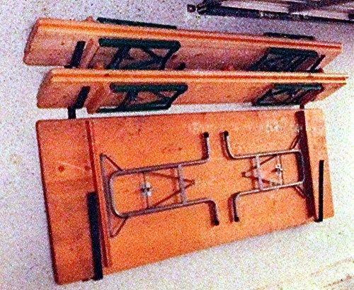 wand halterung aufhaengung aus metall fuer 2 bierzelt garnituren tische baenke halter - Wand Halterung Aufhängung aus Metall für 2 Bierzelt Garnituren Tische Bänke Halter
